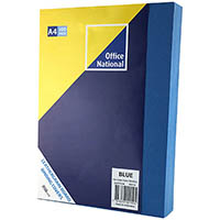 OFFICE NATIONAL BINDING COVER LEATHERGRAIN 350GSM A4 BLUE PACK 100