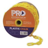 ZIONS SAFETY CHAIN 8MM 25M ROLL YELLOW