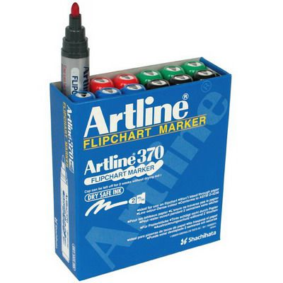 Image for ARTLINE 370 FLIPCHART MARKER 2MM BULLET ASSORTED BOX 12 from Axsel Office National