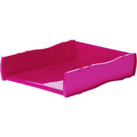 ESSELTE KALIDE DOCUMENT TRAY PINK