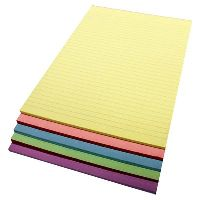 QUILL BANK PADS BOND A4 70GSM 50 LEAF ASSORTED COLOURS PACK 5
