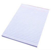 QUILL BANK PAD RULED 60GSM 90 LEAF A5 WHITE