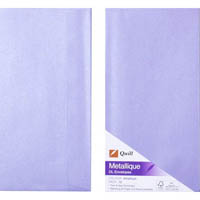 QUILL DL METALLIQUE ENVELOPES AMETHYST PACK 10