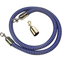 Q NYLON ROPE 25MM BRASS SNAP ENDS 1.5M BLUE