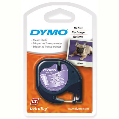 Image for DYMO 16952 LETRATAG LABELLING TAPE PLASTIC 12MM X 4M BLACK ON CLEAR from Axsel Office National