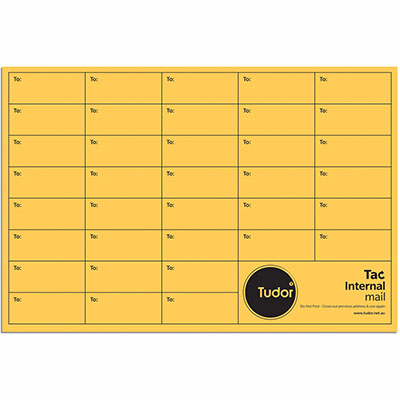 Image for TUDOR PRINTED INTEROFFICE POCKET ENVELOPES UNGUMMED 380 X 255MM GOLD BOX 250 from Axsel Office National
