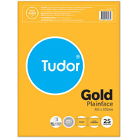 TUDOR POCKET ENVELOPES PEEL N SEAL 405 X 305MM GOLD PACK 25