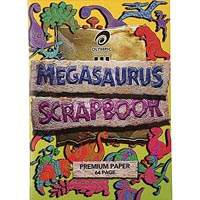 OLYMPIC SCRAPBOOK MEGASAURUS STAPLED 90GSM BOND PAPER 64 PAGE 335 X 240MM