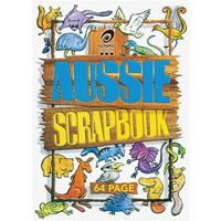 OLYMPIC SCRAPBOOK AUSSIE ANIMALS STAPLED 64 PAGE 335 X 240MM