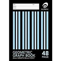 OLYMPIC STRIPE GRAPH BOOK A4 48 PAGE 2MM GRAPH/8MM FEINT