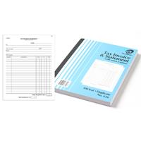 OLYMPIC NO.626 INVOICE AND STATEMENT BOOK CARBON DUPLICATE 100 LEAF 250 X 200MM