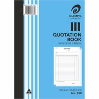 OLYMPIC NO 650 QUOTATION BOOK DUPLICATE A4