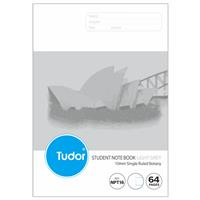 TUDOR BOTANY BOOK NSW RULING 10MM 55GSM 64 PAGE A4 DARK GREY