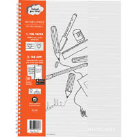 WHITELINES SPIRAL NOTEPAD 120 PAGE 8MM RULED 80GSM A4 PACK 5