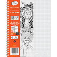 WHITELINES SPIRAL NOTEPAD 120 PAGE 5MM GRID 80GSM A5 PACK 5