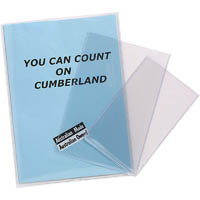 CUMBERLAND EXTRA HEAVY DUTY UNPUNCHED CARD HOLDER 125 MICRON A4 CLEAR PACK 25