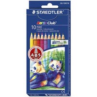 STAEDTLER NORIS CLUB MAXI LEARNER COLOURED PENCILS ASSORTED PACK 10