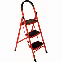 BRADY 3 STEP LADDER 120KG RED