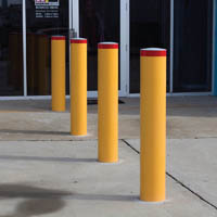 BRADY BOLLARD FIXED HEAVY DUTY ROUND BELOW GROUND 1000 X 90MM YELLOW