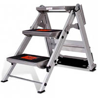 BRADY LITTLE GIANT SAFETY STEP LADDER 3 STEP WITH SAFETY BAR 136KG
