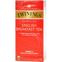 TWININGS ENGLISH BREAKFAST TEA PACK 50