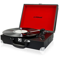 MBEAT RETRO BRIEFCASE STYLED USB TURNTABLE RECORDER