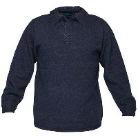 PRIME MOVER MW863 WOOL KNIT JUMPER WITH 2 BUTTON CLOSURE