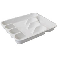 CONNOISSEUR CUTLERY TRAY 5 COMPARTMENT WHITE