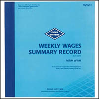 ZIONS WWH WEEKLY WAGES SUMMARY BOOK