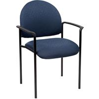 YS DESIGN STACKING VISITORS CHAIR MEDIUM BACK WITH ARMS BLUE